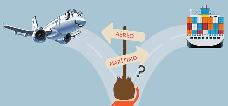 transporte de mercancías aéreo o marítimo