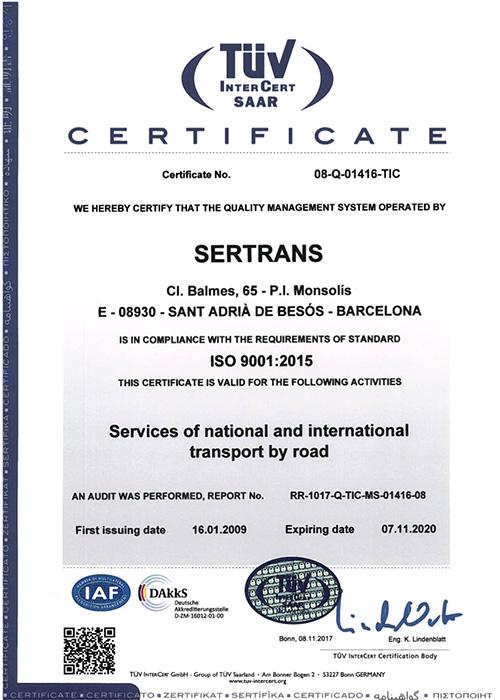 Certificado 9001-2015