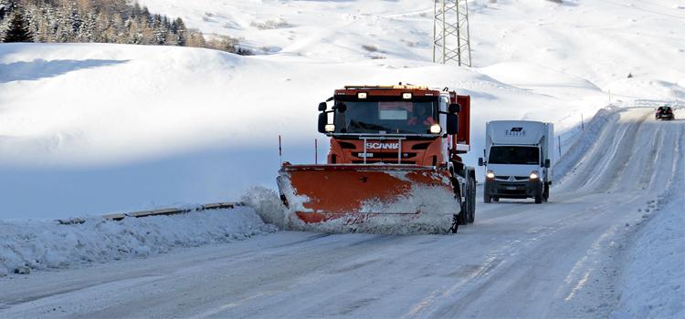 Carretera nieve y hielo